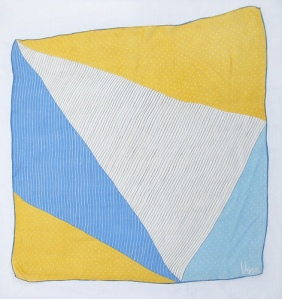 blue white yellow triangles