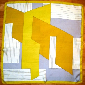 ochre gold slate regtangles and parallelagrams in optical illusion